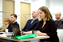 Ethnographers and Wikipedians workshop, National Museum of Ethnography, Warsaw, Feb 2015 02.jpg