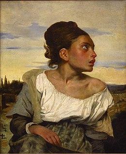 Eugène Delacroix - Jeune orpheline au cimetière (vers 1824).JPG