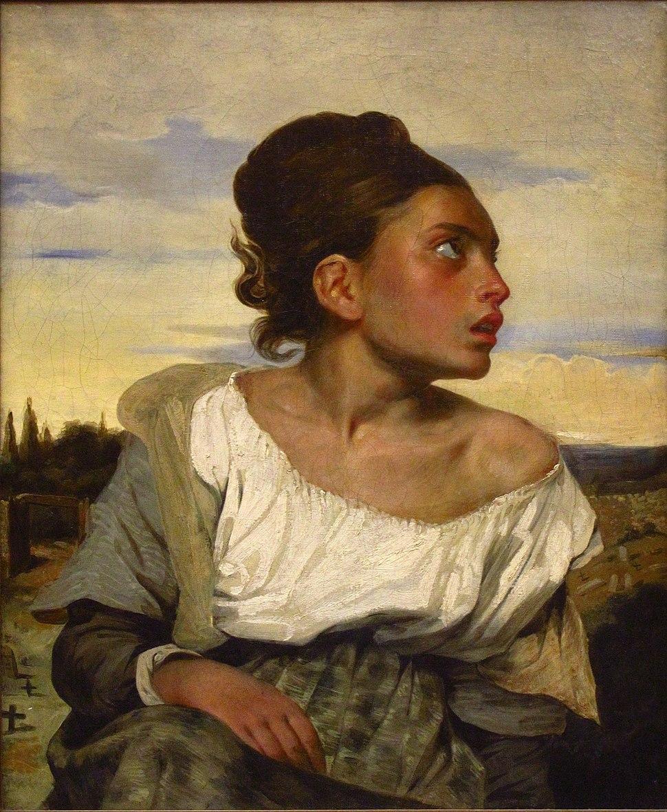 Eugène Delacroix - Jeune orpheline au cimetière (vers 1824)