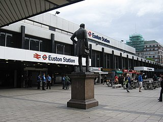 Euston railway station central London railway terminus