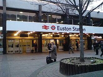 King's Cross station and Euston station bombings - Entrance to Euston Station