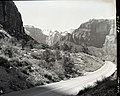 Exhibit 7- Zion-Mt. Carmel Highway tunnel road at the switchbacks. ; ZION Museum and Archives Image 007 01 040 ; ZION 8789 (d78b908c964c4868ba2a4af081e6cf33).jpg