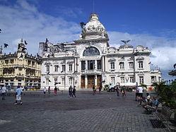 The grand Rio Branco Palace