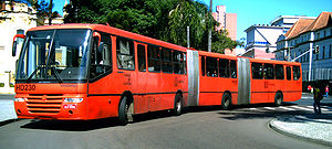 Jaime Lerner - Bi-articulated bus of Curitiba