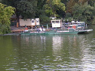 Ferry transport in Berlin - A private ferry at Pfaueninsel