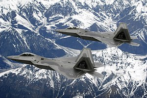 Joint Base Elmendorf–Richardson - F-22 Raptors of the 3rd Wing at Elmendorf-Richardson