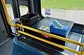 Face mask dispenser inside a TriMet bus (Portland, Oregon), June 2020.jpg