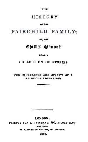 The History of the Fairchild Family - Title page from the first edition of The Fairchild Family, Part I