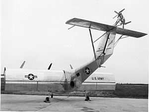 Fairchild VZ-5 - The VZ-5 with fully extended flaps