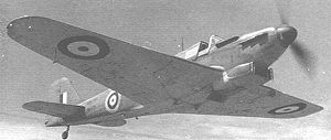 Fairey Fulmar - Fulmar Mk II, identified by the small additional air inlets on either side of the chin