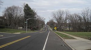 Fairless Hills, Pennsylvania - Intersection of Trenton Road and Canterbury Road