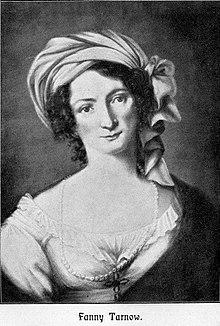 Porträt Fanny Tarnow von Friederike Hasse in Dresden 1820/21 (Quelle: Wikimedia)