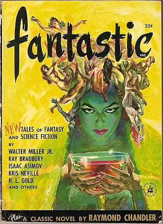Fantastic (magazine) - Cover of first issue; artwork by Barye Phillips and Leo Summers.