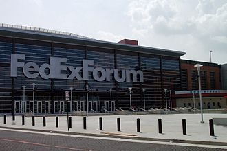 FedExForum - Entrance to the FedExForum, 2005
