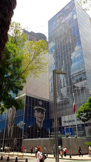 Law enforcement in Mexico - Headquarters of the Federal Police in Mexico City.