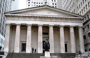 Tuckahoe marble - Federal Hall National Memorial in Manhattan is constructed using Tuckahoe marble