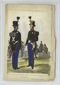 Feldwebel und Canonier eines Artillerie-Regiments, en parade (NYPL b14896507-90362).tiff