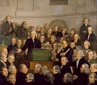 Felix Meritis - The inauguration of the Felix Meritis building on 31 October 1788, painted by Adriaan de Lelie