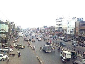 Ichhra - A view of the Ferozpur Road near Ichhra Bazaar.