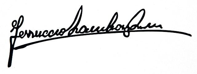 File Ferruccio Lamborghini Autograph Jpg Wikimedia Commons