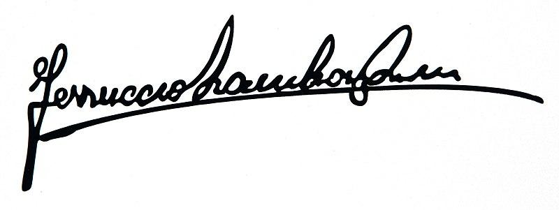 File:Ferruccio Lamborghini autograph.jpg
