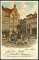 Fiedeler & Bayer PC Holzmarktbrunnen Hannover, Bildseite, Lithografie Marktfrauen Oskar Winter Eisenwarenhandlung, Historisches Museum, Oskar-Winter-Brunnen 1898.jpg