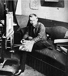 Filiger portrait of filiger in his studio in paris 1888.jpg