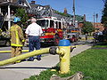 Fire hydrant and truck Ottawa.JPG