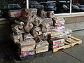 Firewood in front of a supermarket.JPG