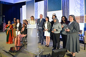 Women's empowerment - Melania Trump with 2017 International Women of Courage Awardees