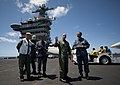 Flickr - Official U.S. Navy Imagery - The commander of the U.S. Pacific Fleet, speaks with the commander of Carrier Air Wing 17, on the flight deck..jpg