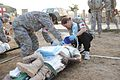 Flickr - The U.S. Army - mock casualty treatment.jpg