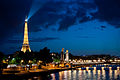 Flickr - Whiternoise - Eiffel Tower lit up with the beacon.jpg
