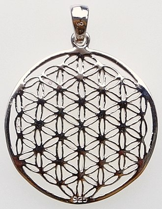 Overlapping circles grid - Image: Flower of Life pendant (2)