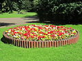 Flowerbed at St Chad's Gardens, Kirkby.JPG