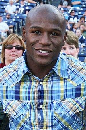 English: The boxing world champion Floyd Maywe...