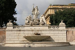 Fontana del Nettuno or Neptune's Fountain, in ...