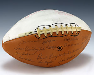 1974 Alabama Crimson Tide football team - Image: Football signed by 1974 Alabama Crimson Tide (1987.570)
