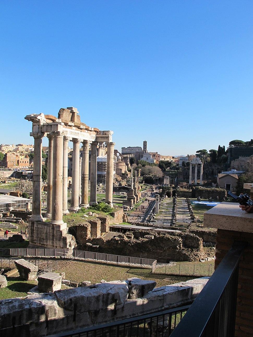 Foro romano dal campidoglio 04