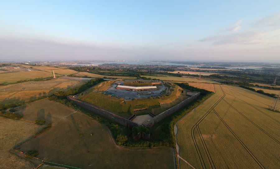 Fort Nelson, Portsdown Hill, look from south