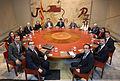 Foto primera reunió de Govern Puigdemont.jpg