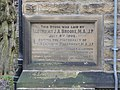 Foundation stone on the library, Stocks Walk, Almondbury - geograph.org.uk - 731265.jpg