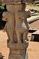 Four Lions - East Pillar Top - Rear Side - South Gateway - Stupa 1 - Sanchi Hill 2013-02-21 4388.JPG