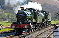 Foxcote Manor and 2-8-0 3802 at Carrog Station.jpg