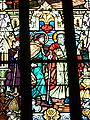 France Saverne église de la nativité Pelerins d'Emmaüs stained glass-detail.jpg