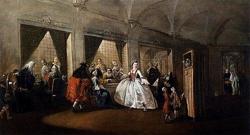 Francesco Guardi - The Parlor of the Nuns at San Zaccaria - WGA10827