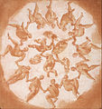 Francesco Primaticcio - Dance of the Hours and three putti with cornucopiae - Google Art Project.jpg