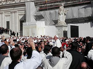 Papal inauguration of Pope Francis - Among the people at St. Peter's Square during The Inauguration Mass