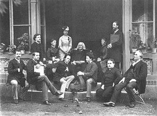 Franz Liszt im Kreis seiner Schüler 22. Oktober 1884