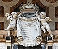 Frari (Venice) nave left - Monument to Doge Giovanni Pesaro - Angels holding the weapons of the Pesaro family by Josse de Corte.jpg